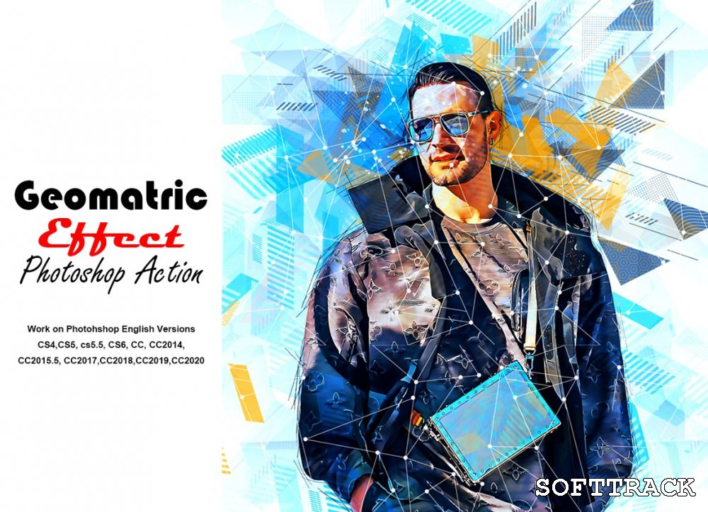 Geometric Effect Photoshop Action