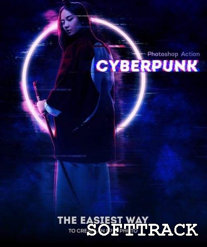 Cyberpunk Photoshop Action 31152285
